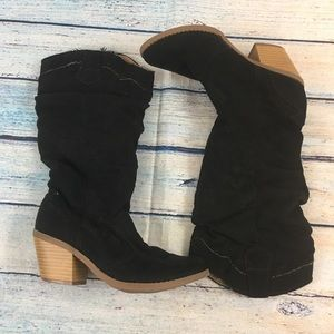 Qupid  Black heeled boots